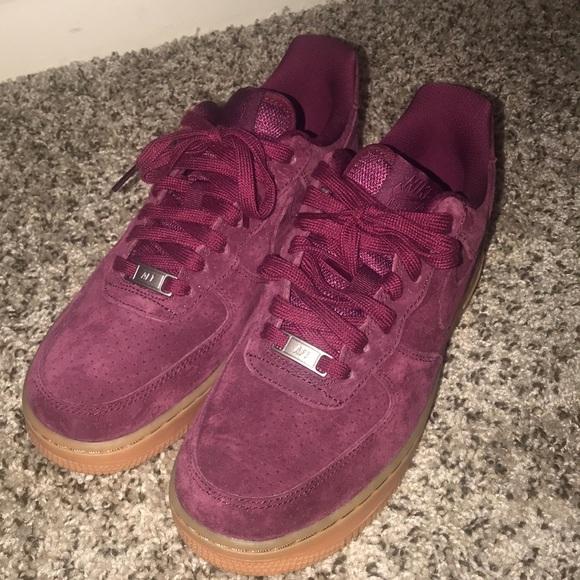Nike Shoes | Maroon Suede Nike Air
